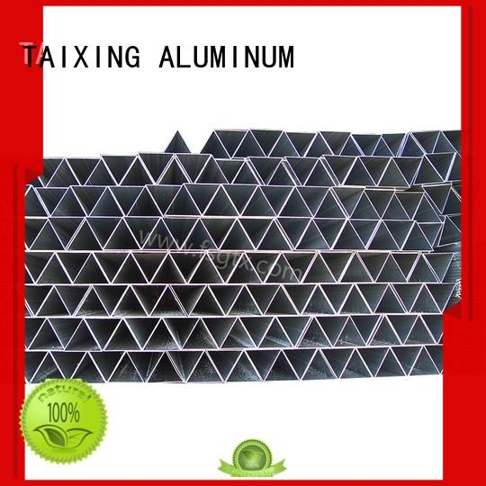 TAIXING ALUMINUM profile triangle tube packaging Powder coating airport